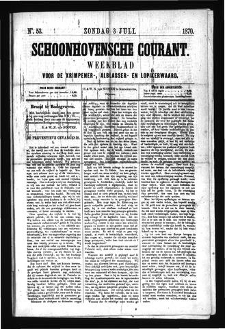 Schoonhovensche Courant 1870-07-03