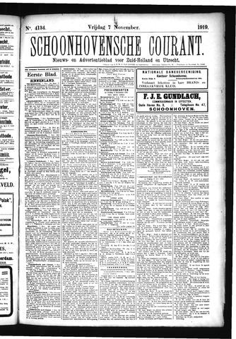 Schoonhovensche Courant 1919-11-07