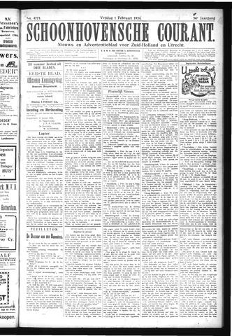Schoonhovensche Courant 1924-02-01