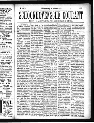Schoonhovensche Courant 1893-11-01