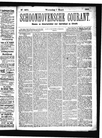 Schoonhovensche Courant 1900-03-07