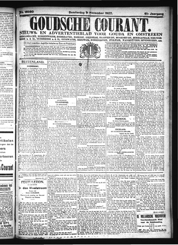 Goudsche Courant 1922-11-09