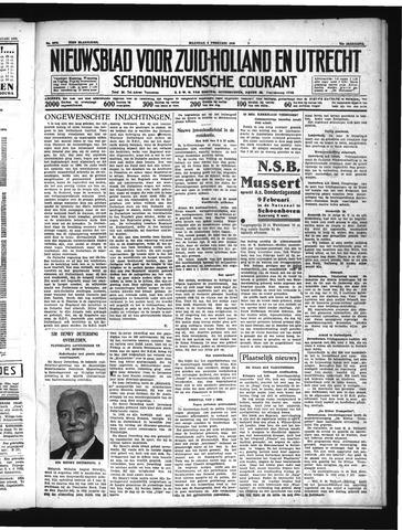 Schoonhovensche Courant 1939-02-06
