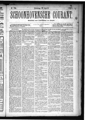 Schoonhovensche Courant 1883-04-29