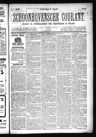 Schoonhovensche Courant 1912-04-06