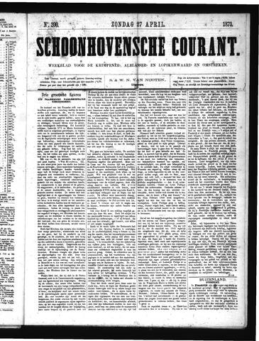 Schoonhovensche Courant 1873-04-27