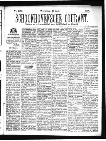 Schoonhovensche Courant 1908-06-24
