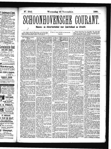 Schoonhovensche Courant 1898-11-23