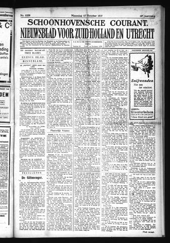 Schoonhovensche Courant 1927-10-17