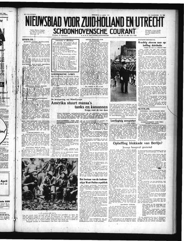 Schoonhovensche Courant 1949-04-27