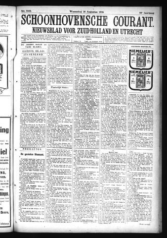 Schoonhovensche Courant 1926-08-25