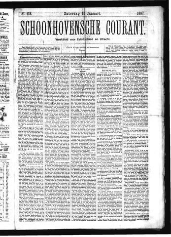 Schoonhovensche Courant 1887-01-15