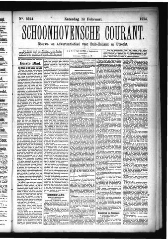 Schoonhovensche Courant 1914-02-14