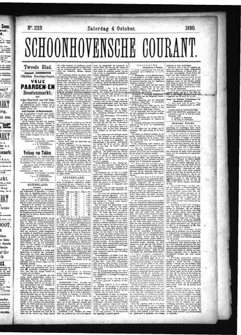 Schoonhovensche Courant 1890-10-09