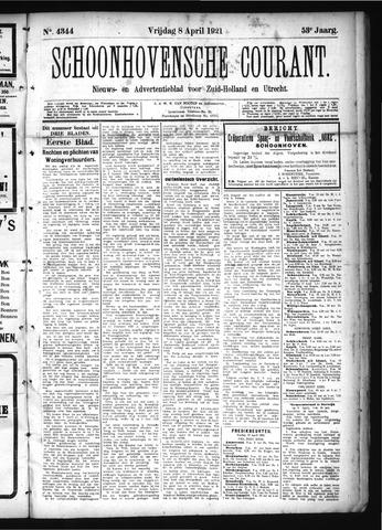 Schoonhovensche Courant 1921-04-08