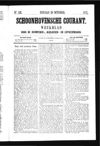 Schoonhovensche Courant 1871-10-29