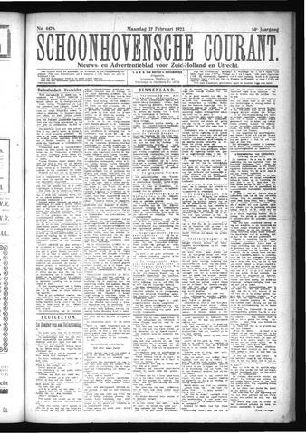 Schoonhovensche Courant 1922-02-27