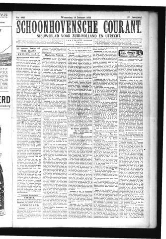 Schoonhovensche Courant 1925-01-14