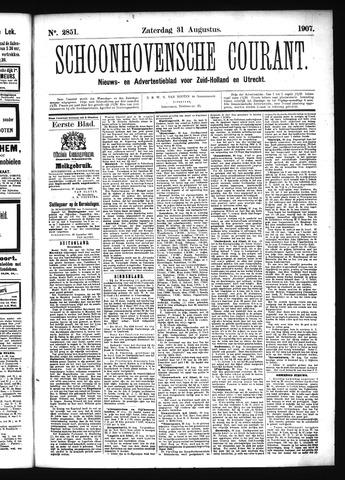 Schoonhovensche Courant 1907-08-31