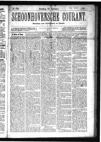 Schoonhovensche Courant 1883-01-21