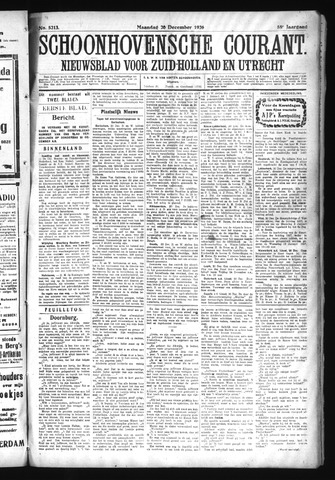 Schoonhovensche Courant 1926-12-20
