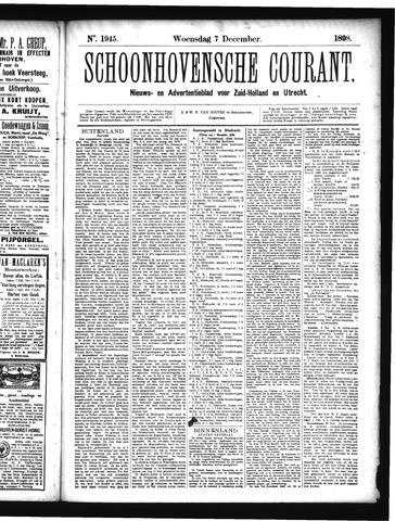 Schoonhovensche Courant 1898-12-07