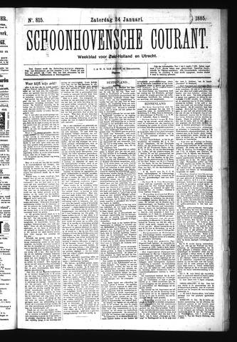Schoonhovensche Courant 1885-01-24