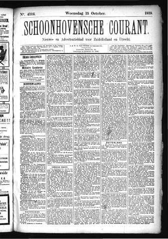 Schoonhovensche Courant 1919-10-15