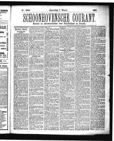 Schoonhovensche Courant 1908-03-07