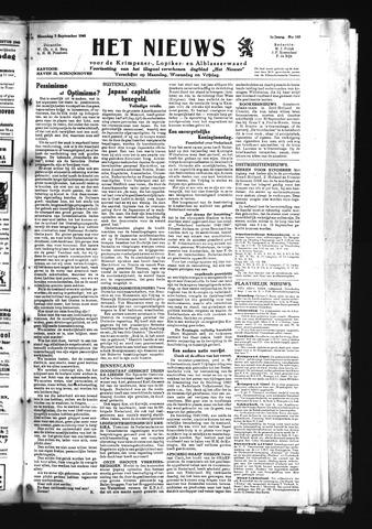 Schoonhovensche Courant 1945-09-03