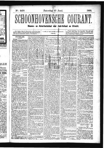 Schoonhovensche Courant 1903-06-27