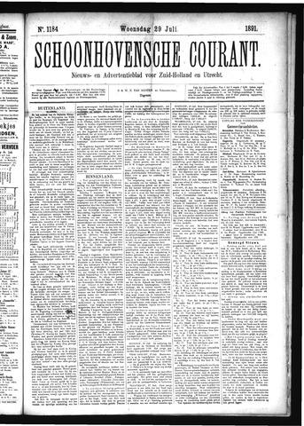 Schoonhovensche Courant 1891-07-29