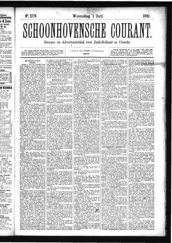 Schoonhovensche Courant 1891-07-01