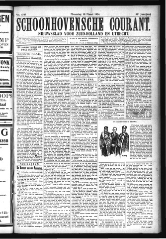 Schoonhovensche Courant 1924-03-10