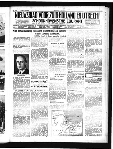 Schoonhovensche Courant 1939-08-23