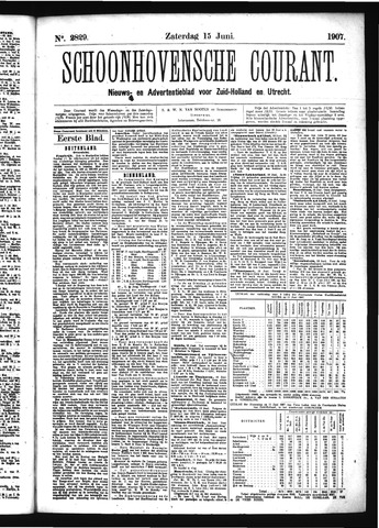 Schoonhovensche Courant 1907-06-15
