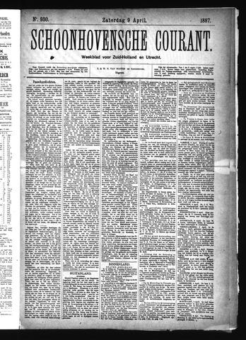 Schoonhovensche Courant 1887-04-09