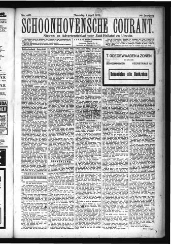 Schoonhovensche Courant 1922-04-03