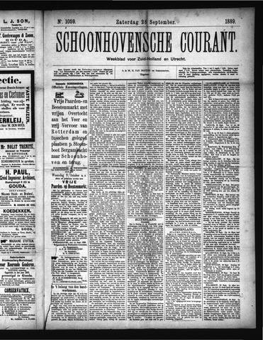 Schoonhovensche Courant 1889-09-28