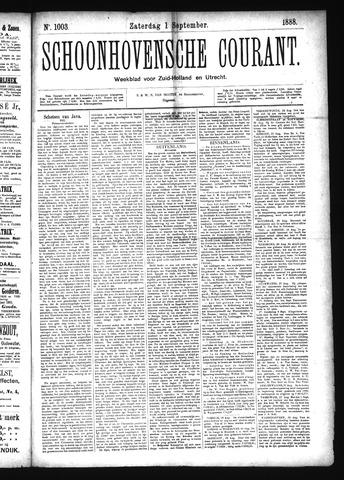 Schoonhovensche Courant 1888-09-01