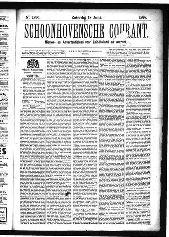 Schoonhovensche Courant 1898-06-18