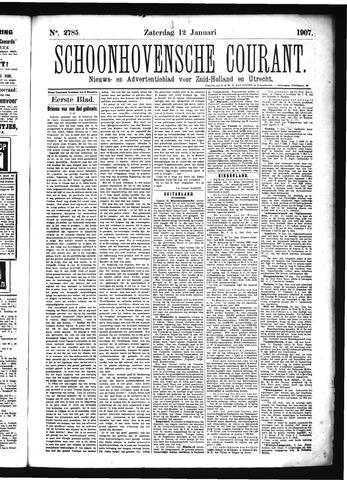 Schoonhovensche Courant 1907-01-12