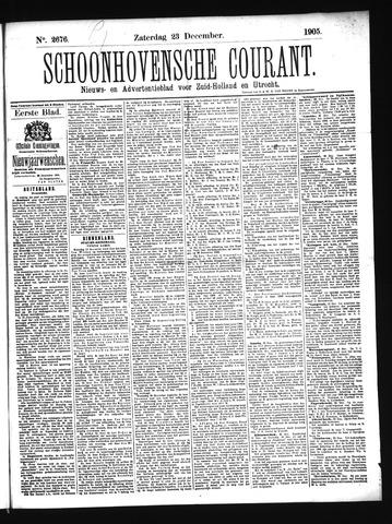 Schoonhovensche Courant 1905-12-23