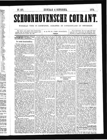 Schoonhovensche Courant 1874-10-04