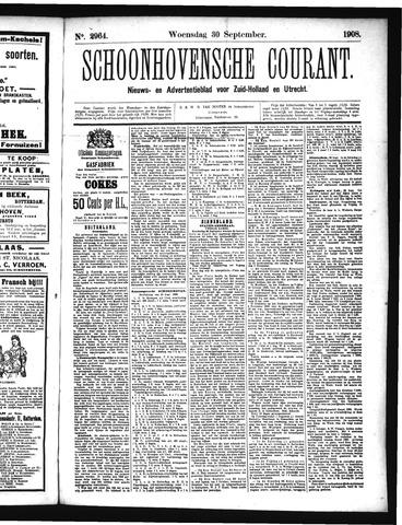 Schoonhovensche Courant 1908-09-30