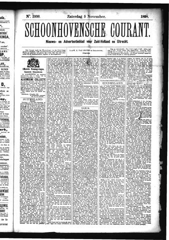 Schoonhovensche Courant 1898-11-05