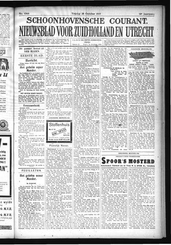 Schoonhovensche Courant 1927-10-28