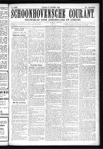 Schoonhovensche Courant 1924-10-17
