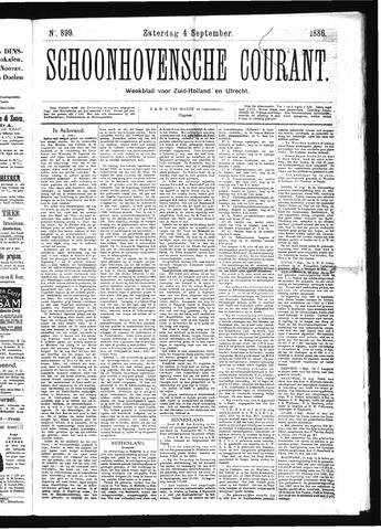 Schoonhovensche Courant 1886-09-04