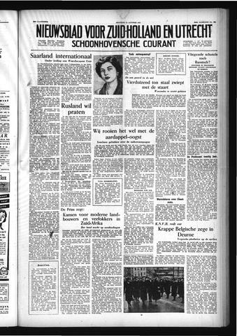 Schoonhovensche Courant 1954-10-25